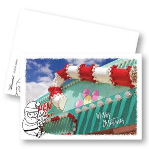 Delikat Weihnachtskarte Postkarte Frau Schnobel Grafik Hochkantkarten