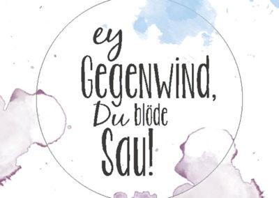 Gegenwind Aufkleber Sticker Frau Schnobel Grafik
