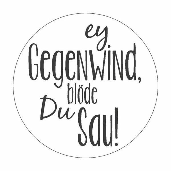 Gegenwind Button Magnet Bilder Frau Schnobel Grafik
