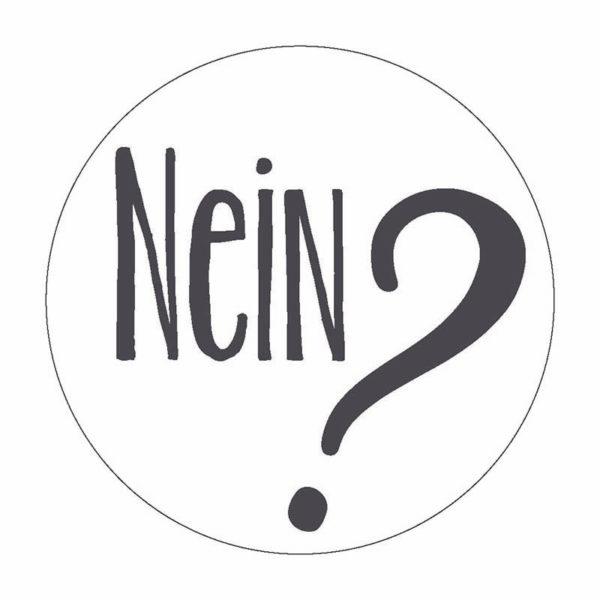 Nein Button Magnet Bilder Frau Schnobel Grafik