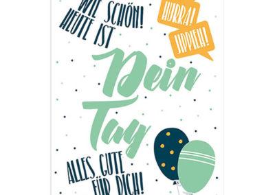 Skorpion Verlag Karte Geburtstag Klappkarte Geburtstagskarte Frau Schnobel Grafik Front 1