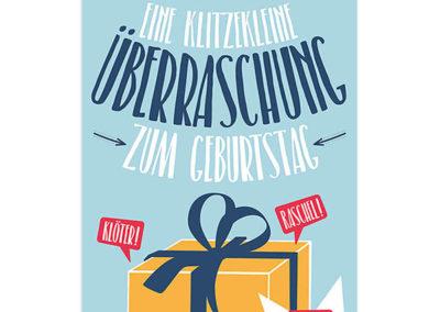 Skorpion Verlag Karte Geburtstag Klappkarte Geburtstagskarte Frau Schnobel Grafik Front 5