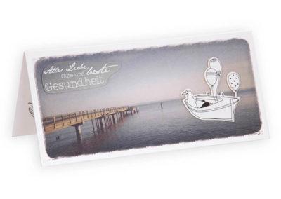 ruhige Grußkarte Weite See Geburtstag maritime Klappkarte Grusskarte Frau Schnobel Grafik Titel