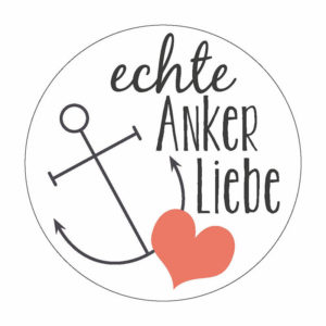 echte Anker-Liebe Button Magnet Bilder Frau Schnobel Grafik