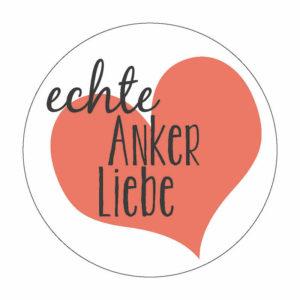 echte Anker-Liebe Herz Button Magnet Bilder Frau Schnobel Grafik