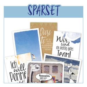Set Sparpaket Karte Geburtstag Postkarte Geburtstagskarte Frau Schnobel Grafik