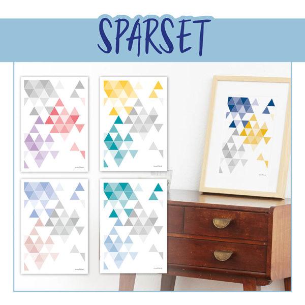 Geometrische Drucke Set Sparpaket Poster Martinesk Frau Schnobel Grafik
