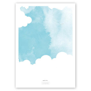 FOUR Elements Air Aquarell A4 vier Elemente Poster Luft Titel