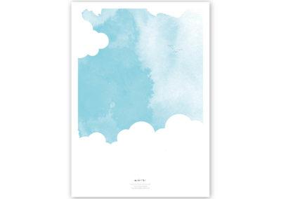 FOUR Elements Air Aquarell A4 vier Elemente Poster Luft Titel