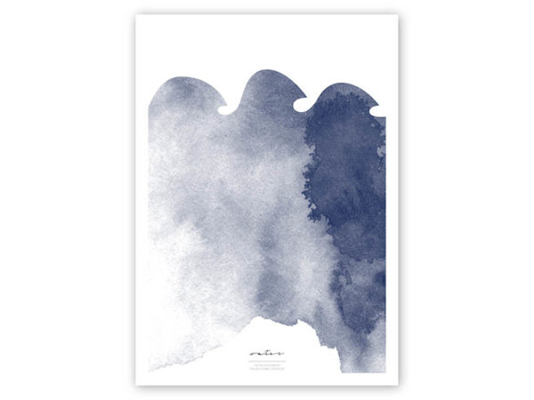 FOUR Elements Water Aquarell A4 vier Elemente Poster Water Titel