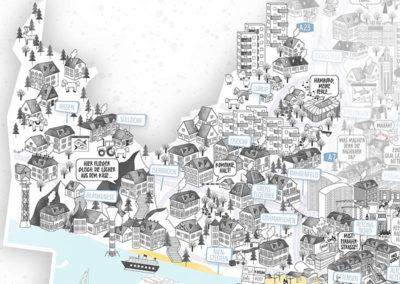 Rapü Design Hamburg Altona Rissen Blankenese Stadtteilposter Stadtposter Stadtkarte A3 Detail