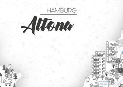 Rapü Design Hamburg Altona Stadtteilposter Stadtposter Stadtkarte A3 Headline