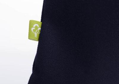 Tasche witziger Baumwollbeutel Shopper Organic Cotton Gesund gesunde Sachen blau gelb Organic Cotton Label