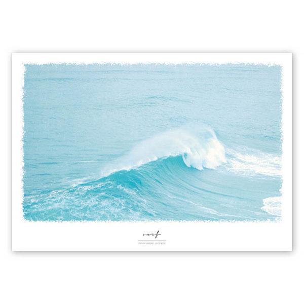 Poster Welle Poster Wasser Foto Surf A4 quadratisch