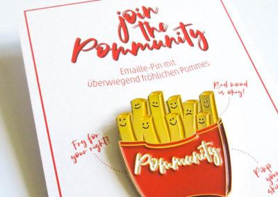 Rapü Design Pommes Pin Pommunity Pommes Brosche