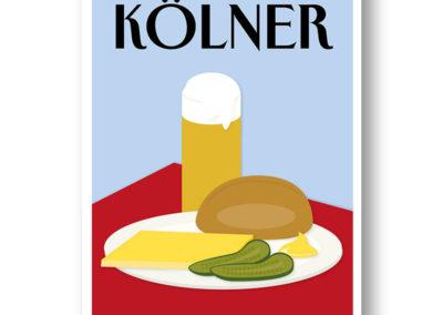 CityProducts Stadt Postkarte Köln The Kölner Halver Hahn