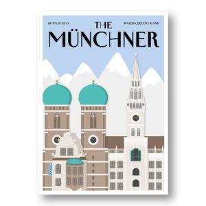 CityProducts Stadt Postkarte München The Münchner Skyline